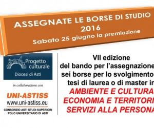 ASSEGNAZIONE BORSE DI STUDIO DEL PROGETTO CULTURALE DIOCESANO E ASTISS